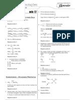 Química - Caderno de Resoluções - Apostila Volume 3 - Pré-Universitário - quim1 aula12