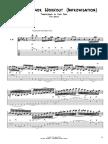 Melodic Minor TAB 4ths Tuning