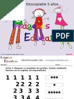Cuadernillo 40 Actividades Eduación Preescolar 5 Años