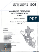 Examen Simulacro - San Marcos 2018-I Area C