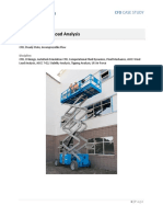 Scissor Lift Wind Load Analysis