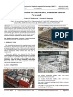 Cost and Time estimation for Conventional, Aluminium &Tunnel Formwork