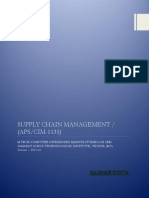 Supply Chain Management - CIM 1131