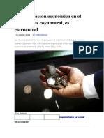 Desaceleración Económica en El Perú