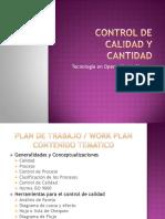 Control de Calidad y Cantidad Fase 1