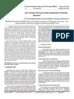 Design and Fabrication of Solar Powered Semi Automatic Pesticide Sprayer