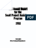 Peace Corps Small Project Assistance Program USAID Annual Report 1988