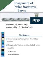 Management of Mandibular Fractures - Part 2