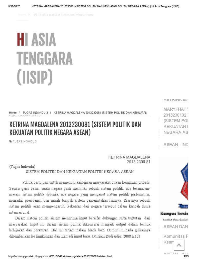 (Sistem Politik Dan Kekuatan Politik Negara Asean) _ Hi ...
