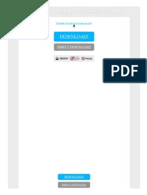 Exemple De Rapport De Stage Ista Pdf World Wide Web