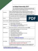 TOSHIBA Global Internship Program 2017