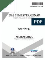 Soal Pengayaan UAS Matematika Kelas 8 Semester Genap 2015 (Matematohir.wordpress.com)