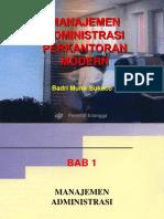 management administrasi perkantoran mOdErn. revised.ppt