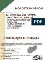 3- Mecanismo de Transmision de Movimiento de Giro Entre Ejes No Paralelos