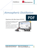 ATM CDU Distillation in Aspen HYSYS V10