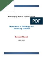 Kumc Pathology Residents Manual