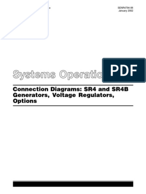 Caterpillar Connection Diagrams Sr4 and Sr4b   Transformer   Electric  GeneratorScribd