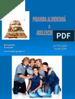 Piramida Alimentara a Adolescentilor