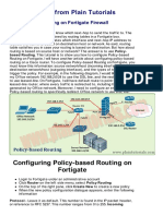 Policy Based Routing on Fortigate Firewall