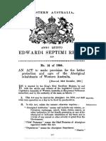 1905 aboriginies act official doc