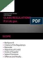 Class Regulation