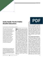 India Badly Needs Public Health Education