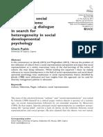 Culture and Social Representations a Con