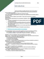Psychologie de La Personnalité Résumé Livre Michel Hansenne 2012 Marie Chazal