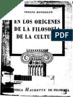 Mondolfo-En Los Origenes de La Filosofia de La Cultura