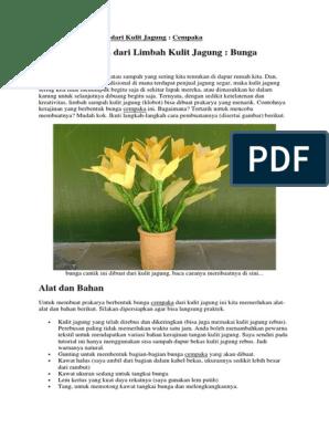Cara Membuat Bunga Dari Kulit Jagung Cempaka