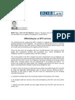 40 Withholding Tax on BPOs ICN 05-28-08