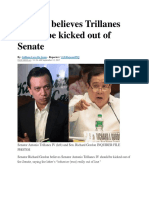 Gordon Believes Trillanes Should Be Kicked Out of Senate