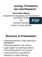 Urban Planning Profession Education and Research