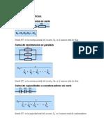 Fórmulas eléctricas