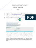 Panduan Registrasi Online
