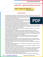 Current Affairs Weekly Pocket PDF 2017 - April (10-16) by AffairsCloud