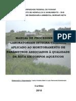 ⭐MANUAL DE PROCEDIMENTOS LABORATORIAIS INTEGRA-CLIMASUL APLICADO AO MONITORAMENTO DE PARÂMETROS ASSOCIADOS À QUALIDADE DA ÁGUA EM CORPOS AQUÁTICOS