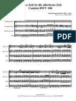Brass Quartet_j. s. Bach Cantate Bwv 106_score