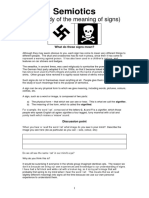 Semiotics Handout and Worksheet