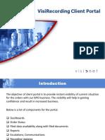 VisiRecording Client Portal - Visionet Systems