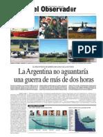El presupuesto militar de Argentina es el más bajo de su historia
