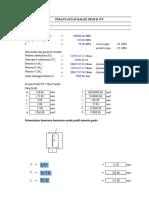 Desain Balok WF-SNI 2002-1 (3btg IWF400)