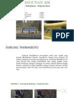 Presentasi Tugas Kerja Bangunan Air