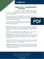 Diccionario Agosto 2017 - Recubrimientos en Teflón
