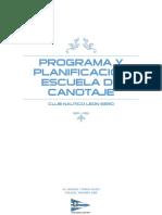 Programa y Planificación Escuela de Canotaje
