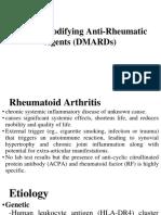 Disease Modifying anti rheumatic drug