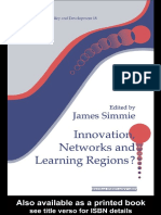 James Simme Innovation Networks and Learning Regions- Regions, Cities & Public Policy