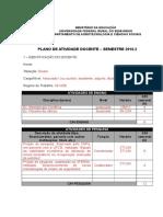 Modelo Plano de Atividade Docente DACS