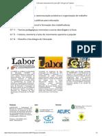 V Encontro Internacional Do Labor 2017 _ Grupos de Trabalho