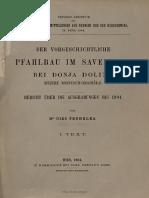 Truhelka 1904 - Der Vorgeschichtliche Pfahlbau Im Savebettebei Donja Dolina (Bezirk Bosnisch-Gradiška).